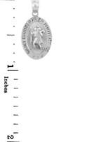 White Gold St. Christopher Charm Pendant