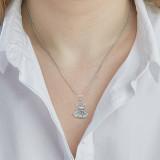 Sterling-silver-lakshmi-hindu-sitting-on-lotus-throne-pendant-necklace-on-model