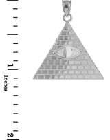 Silver Egyptian Pyramid With All-Seeing Eye Of Horus Pendant Necklace