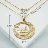 yellow-gold-crescent-moon-star-mosque-with-islamic-Characters-pendant-necklace