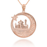 rose-gold-crescent-moon-star-mosque-with-islamic-Characters-pendant-necklace