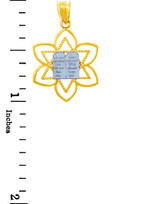 Jewish Charms and Pendants -  Mizpah Star of David Gold Pendant