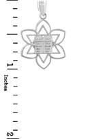 Jewish Charms and Pendants -  Mizpah Star of David Silver Pendant