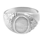 The Jovian Solid White Gold Signet Ring