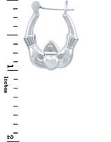 Sterling SIlver Claddagh Hoop Earring