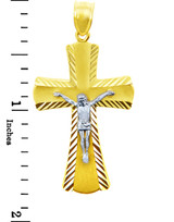 Two Tone Gold Crucifix Pendant - The Miracle Crucifix