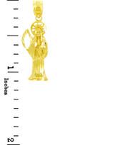 Religious Charms - The Santa Muerte Gold Pendant (1 Inch)