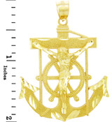 Religious Charms - The Mariner's Gold Pendant (2 Inch)