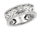 White Gold Celtic Knot Diamond Engagement Ring