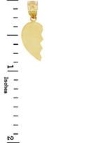 Gold Broken Heart Left Half Pendant