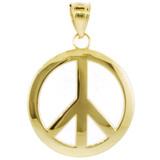 Gold Peace Symbol Pendant (L)