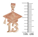 Rose Gold CLASS OF 2013 Graduation Cap Pendant