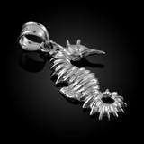 White Gold Seahorse Charm Pendant