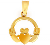 Yellow Gold Claddagh Pendant Necklace