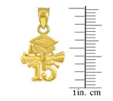 Polished Gold 2015 Graduation Charm Pendant