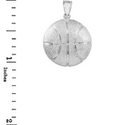 Sterling Silver Basketball Sports Pendant Necklace
