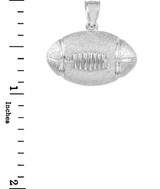 White Gold Football Sports Pendant Necklace