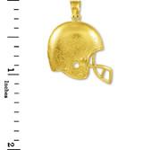 Football Helmet Gold Sports Pendant