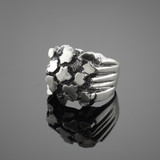 Silver Men's Nugget Ring