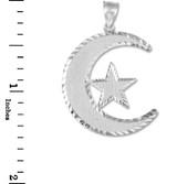 Islamic Crescent Silver Pendant