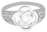 White Gold Trinity Ladies Ring