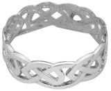 White Gold Trinity Knot Ring