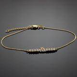 Quinceanera Gold CZ Bar Bracelet