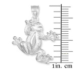 White Gold Frog Necklace Pendant