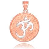 Two-Tone Rose Gold Om Medallion Pendant