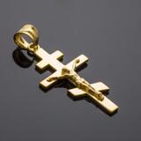 Gold Russian Eastern Crucifix Pendant