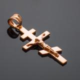 Rose Gold Eastern Orthodox Crucifix Pendant