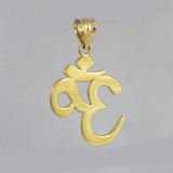 Solid Gold Om/Ohm Pendant