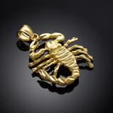 Gold Scorpio Sign Scorpion Pendant