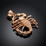 Rose Gold Scorpio Sign Pendant