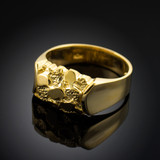 Gold Nugget Center Ring