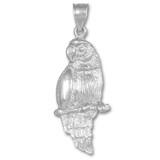 White Gold Parrot Pendant Necklace