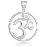 white gold ohm pendant