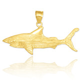 gold shark pendant