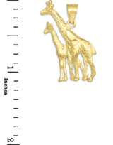 Gold Giraffe Pendant Necklace