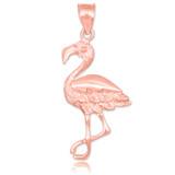 Rose gold flamingo pendant