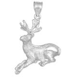 white gold deer charm