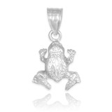 white gold frog charm