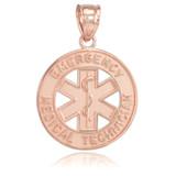 Rose Gold EMT Medical Charm Pendant Necklace