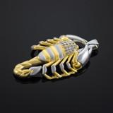 Two-Tone Gold Scorpion CZ Pendant