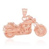 Rose Gold Motorcycle Pendant