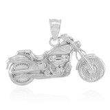 White Gold Motorcycle Pendant