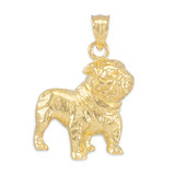 Gold Bulldog Pendant Necklace