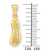 Gold Peanut Charm Pendant Necklace