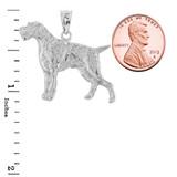 Sterling Silver German Pointer Pendant