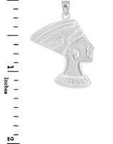 Sterling Silver Queen Nefertiti Pendant Necklace